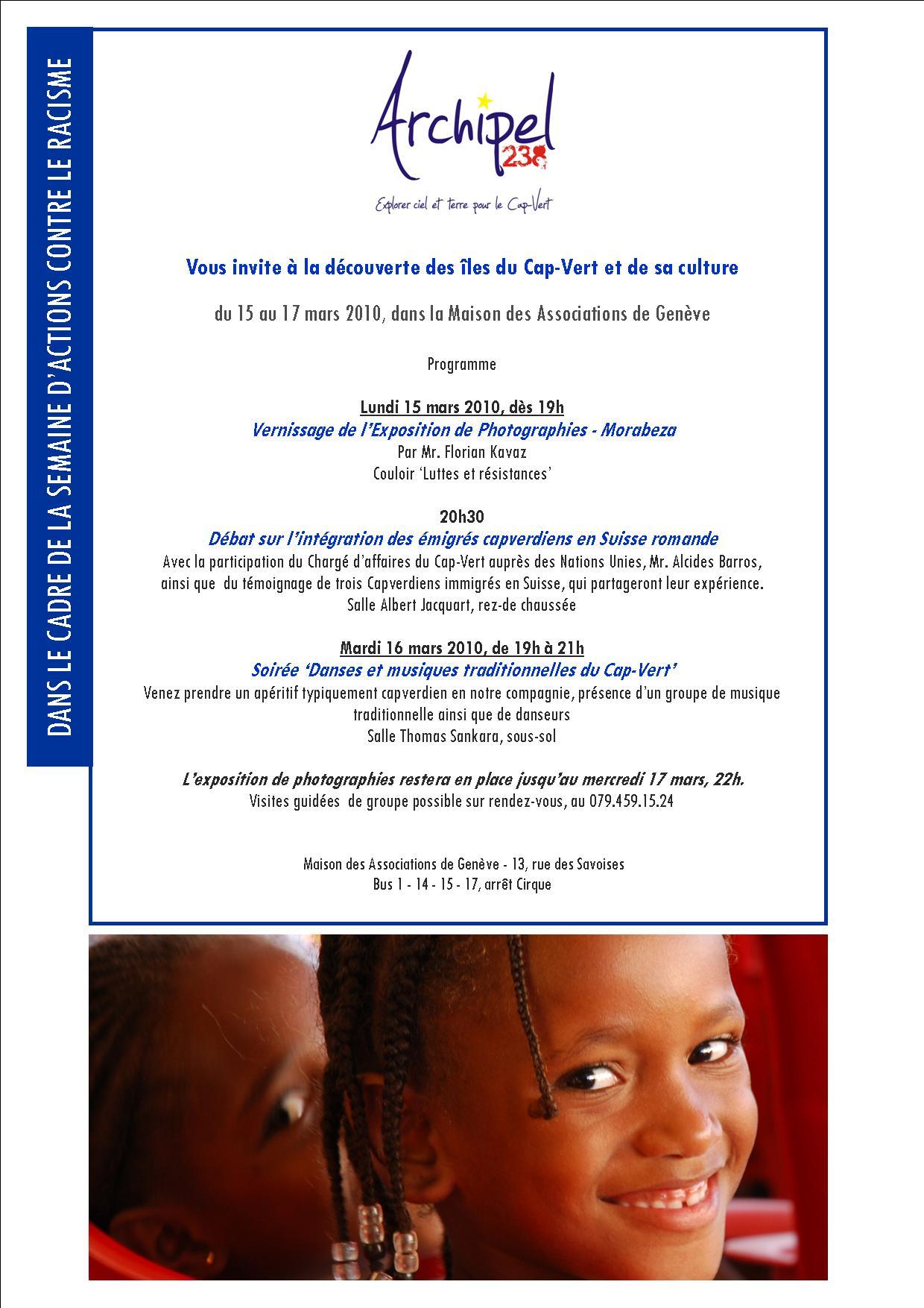 Affiche Semaine d'Actions contre le Racisme - Archipel 238